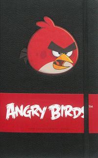 Angry birds red : carnet ligné avec pochette