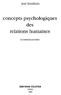 Concepts psychologiques des relations humaines : se connaître soi-même