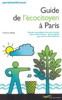 Guide de l'écocitoyen à Paris