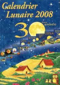 Calendrier lunaire 2008 : 30ème année
