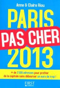 Paris pas cher 2013