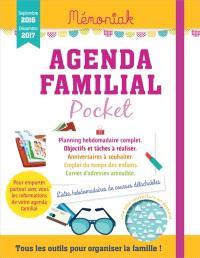 Agenda familial pocket 2017 : septembre 2016-décembre 2017