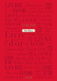 Livre d'or : rouge grand