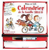 Max et Lili, calendrier de la famille 2014-2015