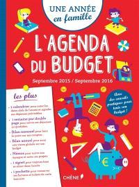 Une année en famille : l'agenda du budget : septembre 2015-septembre 2016