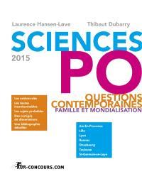 Questions contemporaines 2015 : famille et mondialisation : Sciences Po