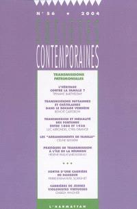 Sociétés contemporaines. n° 56, Transmissions patrimoniales