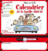 Max et Lili : calendrier de la famille 2015-2016