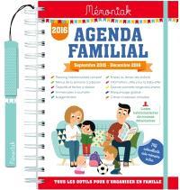 Agenda familial 2016 : septembre 2015-décembre 2016