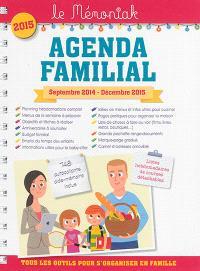 Agenda familial : septembre 2014-décembre 2015