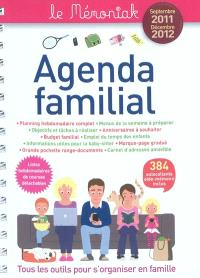 Agenda familial le Mémoniak septembre 2011-décembre 2012