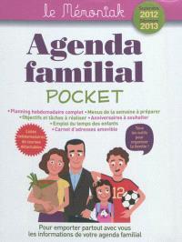 Agenda familial pocket le Mémoniak septembre 2012- décembre 2013