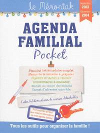 Agenda familial pocket, septembre 2013-décembre 2014