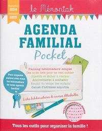 Agenda familial pocket, septembre 2014-décembre 2015