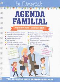 Agenda familial, septembre 2013-décembre 2014
