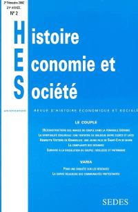 Histoire, économie & société. n° (2) 2002, Le couple
