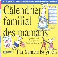 Le calendrier familial des mamans : qui fait quoi, où et quand ? (mais pas pourquoi)