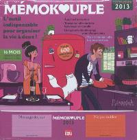 Le mémokouple, calendrier 2013