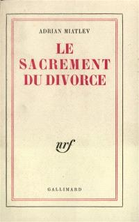 Le Sacrement du divorce