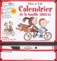 Max et Lili, calendrier de la famille 2013-2014