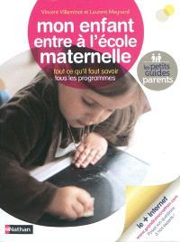 Mon enfant entre à l'école maternelle : tout ce qu'il faut savoir, tous les programmes