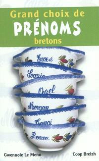 Grand choix de prénoms bretons