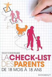 La check-list des parents, de 18 mois à 18 ans