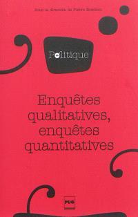 Enquêtes qualitatives, enquêtes quantitatives