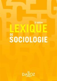 Lexique de sociologie