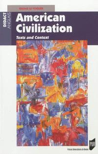 American civilization : texts and context