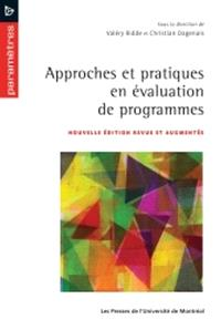 Approches et pratiques en évaluation de programmes