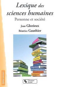 Lexique des sciences humaines : personne et société