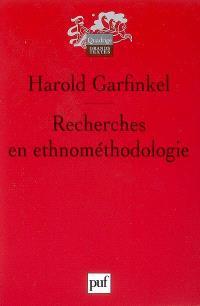 Recherches d'ethnométhodologie