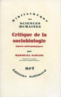 Critique de la sociobiologie : aspects anthropologiques