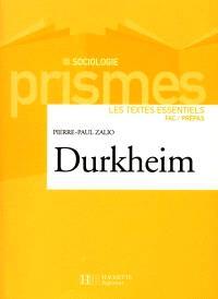 Durkheim, anthologie de textes commentés