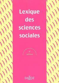 Lexique des sciences sociales