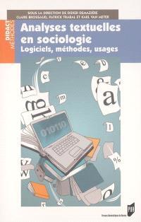 Analyses textuelles en sociologie : logiciels, méthodes, usages