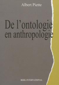 De l'ontologie en anthropologie