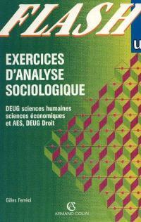 Exercices d'analyse sociologique : DEUG sciences humaines, sciences économiques et AES, DEUG droit
