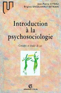 Introduction à la psychosociologie