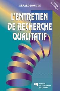 L'entretien de recherche qualitatif