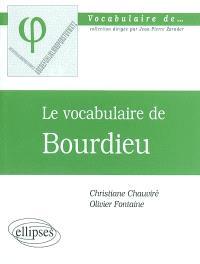 Le vocabulaire de Bourdieu