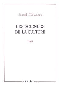 Les Sciences de la culture
