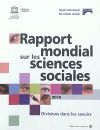 Rapport mondial sur les sciences sociales 2010 : divisions dans les savoirs