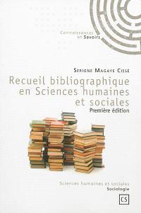 Recueil bibliographique en sciences humaines et sociales