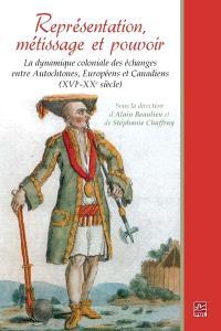 Représentation, métissage et pouvoir  : la dynamique coloniale des échanges entre autochtones, européens et canadiens (XVI-XX siècle)