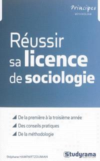 Réussir sa licence de sociologie