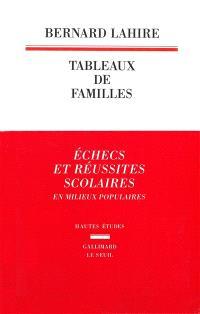 Tableaux de familles : heurs et malheurs scolaires en milieux populaires