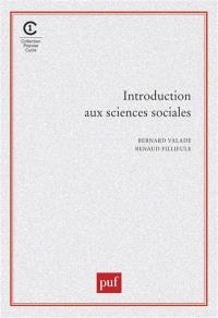 Introduction aux sciences sociales
