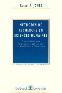 Méthodes de recherche en sciences humaines